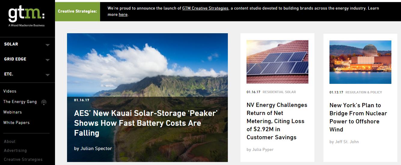 Clean energy media