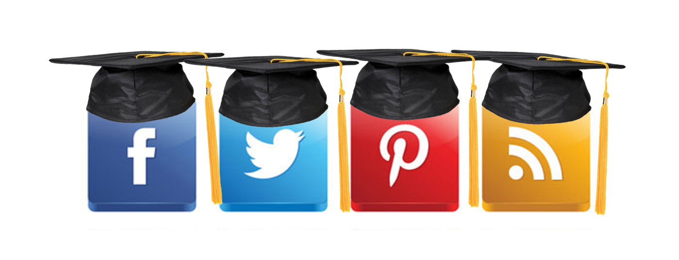 Social media icons educated