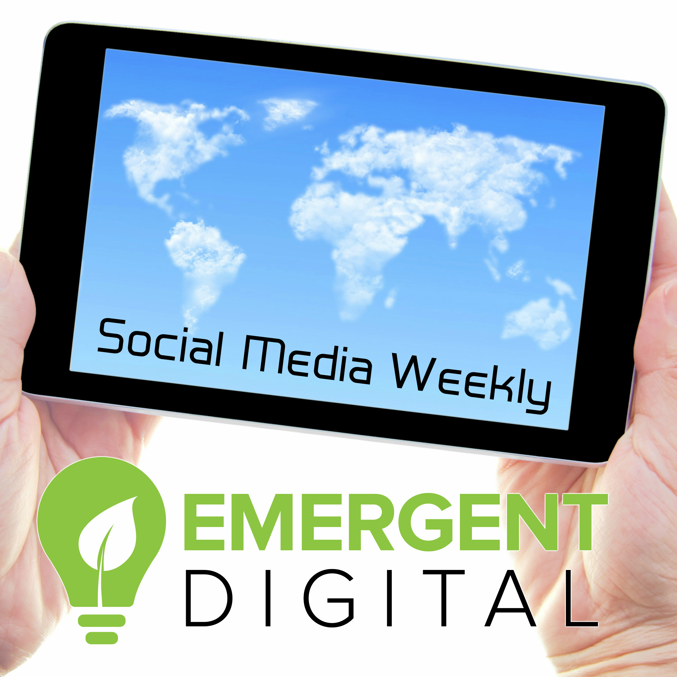 Trending social media news cloud